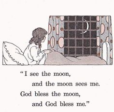 I see the moon illustrated by Blanche Fisher Laite by katinthecupboard, via Flickr