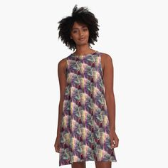 Catnip Purring (Electric Catnip) A-Line Dress Front