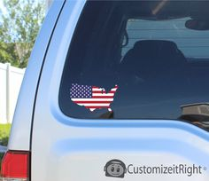 United States of American Flag - Sticker decal car window bumper - 2016 Campaign picclick.com
