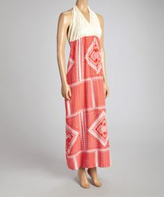 Loving this Red & Ivory Maxi Dress - Women on #zulily! #zulilyfinds