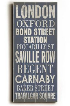 London Transit Sign Wall Plaque - Unframed Art - Wall Decor - Home Decor | HomeDecorators.com