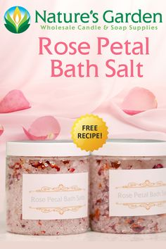 How to Make Rose Petal Bath Salt Video