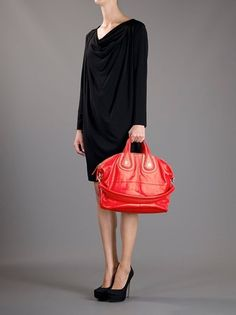 Givenchy Nightingale Bag in Red - Lyst Shopper Bag accf9b2ee5d24