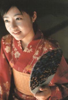 "thekimonogallery: ""Mao Inoue in kimono. Japan """