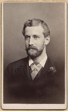 Handsome Well Dressed Boston Beard Moustache Man Vtg CDV Photo Gay Int | eBay