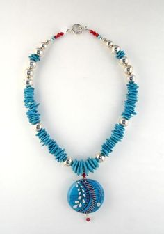 Flame Tree Glass - Necklace