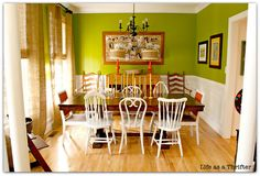 Kitchen accent wall - Offbeat Green by Sherwin Williams SW 6706
