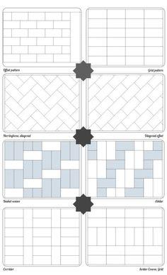 subway bath tile patterns