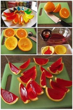 Love this idea with spiked Jello in oranges- easy to make too!