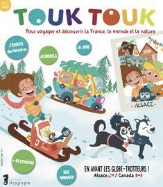 Vous voyagerez avec Tim, Gaïa et Touk les héros de Touk Touk Magazine. Des petits héros éco-citoyens du monde !