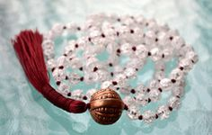 Crystal Quartz & Copper Hand Knotted Mala Beads Necklace - Karma, Nirv – AwakenYourKundalini