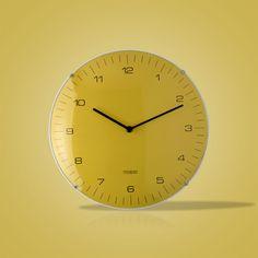 Relógio de Parede Neon Amarelo