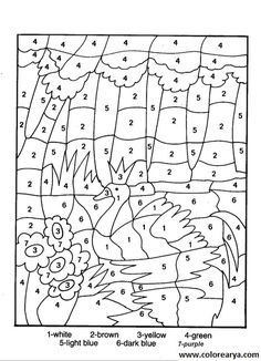Dibujos para colorear según números - Imagui