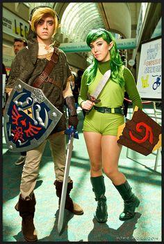 2014 San Diego Comic-Con Cosplay - LEGEND OF ZELDA - TWILIGHT PRINCESS - OCARINA OF TIME - LINK & SARIA