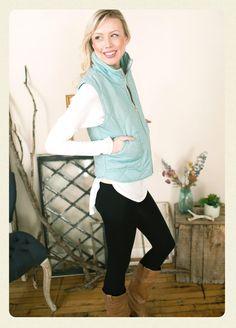 Lucite Green Quilted Vest   AMaVo Boutique www.amavoboutique.com