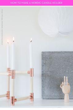 rustic diy nordic candleholders