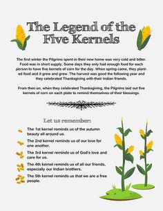 Kids lesson: The legend of the five kernels