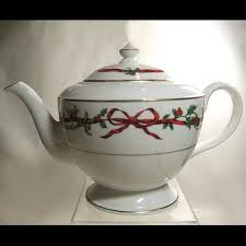 Image result for royal worcester holly ribbons teapot
