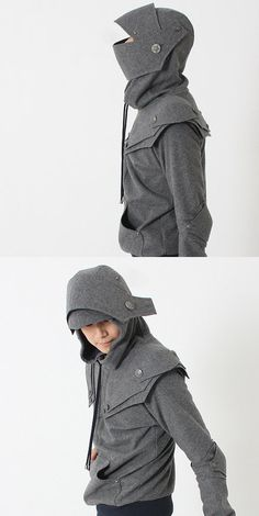 So awesome - Knight Armor Hoodie. From iamknight on Etsy.