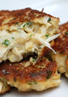 Crazy-Good Crab Cakes ~ 1 lb. Lump Crab Meat, 4 slices of fiber cracker, 1 Egg, beaten, 2 tbsp. Mayo, 1 tsp Seafood Seasoning (such as Old Bay Seasoning), 1 tsp. Worcestershire Sauce, 1 tsp. Dijon Mustard, 1 tbsp. Dried Parley Flakes (or freshly chopped cilantro, instead), 2 tsp. lemon juice, Extra virgin olive oil or butter (for sauteing) {Taste just like the crab cakes at The Red Bar in Grayton Beach}
