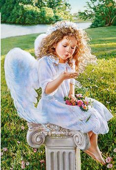 5D DIY Diamond Painting Baby Crystal Diamond Painting Cross Stitch Angel Wing Girl Park Needlework Home Decorative #Affiliate