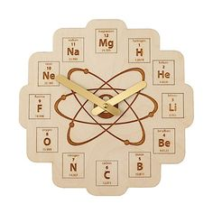 Look what I found at UncommonGoods: Periodic Table Clock for $45 #uncommongoods