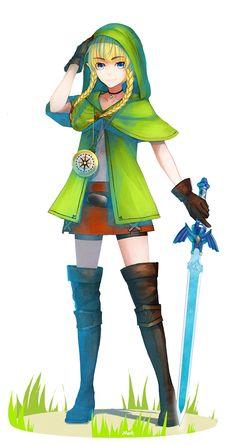 Linkle, Hyrule Warriors / Zelda Musou artwork by Mek.