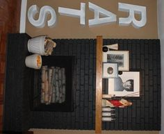 black brick fireplace | Thinking of painting the (currently white) fireplace brick ... | House
