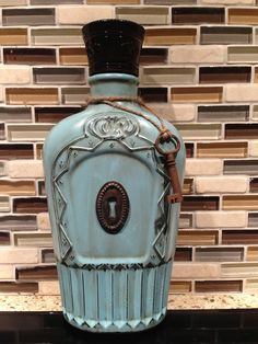 I did this DIY with a Crown Royal bottle. Love it!
