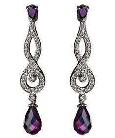 Mulberry Teardrop Dangle Earrings  Earrings