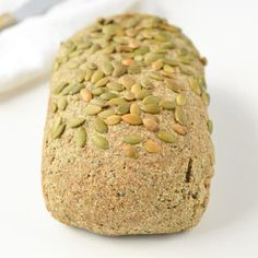 Keto Vegan Gluten Free Bread Loaf recipe, NO yeast, g net carb per slice Basic Quick Bread Recipe, Quick Bread Recipes, Low Carb Flour, Low Carb Bread, Vegan Keto Recipes, Vegan Gluten Free, Healthy Recepies, Gf Recipes, Free Recipes