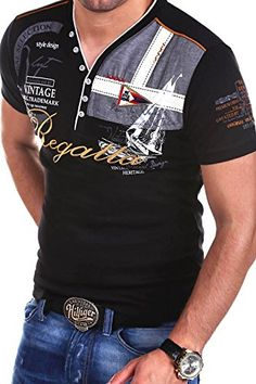 MT Styles 2in1 T-Shirt RESAIL Polo R-2729 [Schwarz, 3XL]