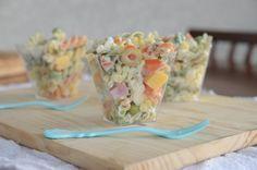 Receita de Salada de macarrão no potinho | A casa encantada