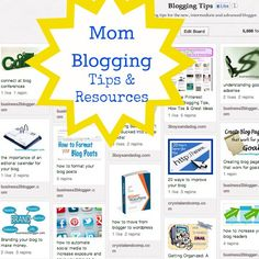 Mom Blogging Tips and Resources