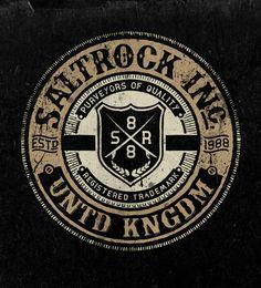 Salt Rock Vintage Graphics by Neil Beech, via Behance Vintage Logo Design, Vintage Typography, Vintage Designs, Types Of Lettering, Lettering Design, Corporate Design, Corporate Branding, Logo Branding, Rock Vintage