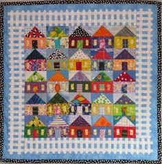 25 Houses wall quilt от tinacurran на Etsy
