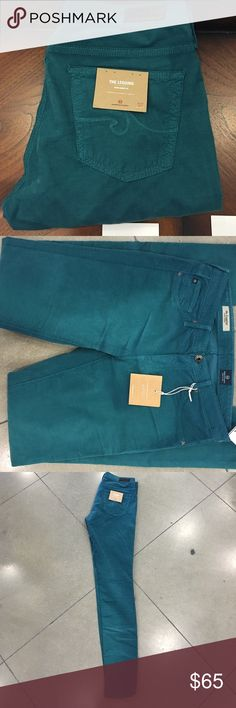 AG the legging Turquoise corduroy super skinny fit AG Adriano Goldschmied Jeans Skinny