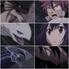 Dragons, Dragon Slayers, Igneel, Grandeeney, Metalicana, Natsu, Wendy, Gajeel; Fairy Tail