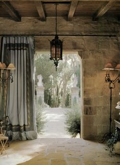 If you are having difficulty making a decision about a home decorating theme, tuscan style is a great home decorating idea. Many homeowners are attracted to the tuscan style because it combines sub… Style Toscan, Tuscan Style, Tuscan Design, Stone Houses, Italian Style, Italian Villa, Rustic Italian, My Dream Home, Window Treatments