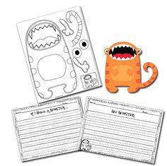 The Lesson Plan Diva: Monster Writing Craftivities