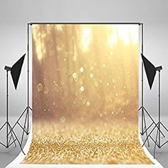 Amazon.com : 5x6.5ft Happy Birthday Photography Backdrops Yellow Bling Bling Bright Dots Backdrop for Children Photo Background : Camera & Photo