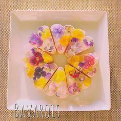 Puding Cake, Flower Food, Edible Flowers, Sweets, Tableware, Instagram Posts, Floral, Bavarian Cream, Dinnerware