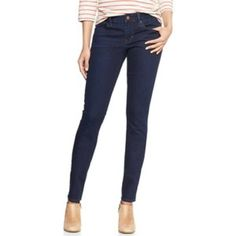 """GAP 1969 Always Skinny Jean Long Rich indigo with light fading along seams. Size-26/2L Button closure, zip fly. Five pocket styling. Inseam 33"""" - Rise 7 1/2"""" Excellent condition GAP Jeans Skinny"""