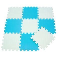 Made From Eva Foam Professional Design 18 Piece Pastel Bright Interlocking Foam Play Mat Set For Children