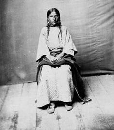 Cree girl - 1878, but no name or location, and she looks so lonely!