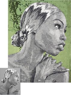 Pieces Of You. Tasteful Custom Mosaic Portraits by Sicis.