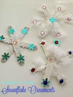 Snowflake Craft for Kids to Make Invitation to create snowflake ornaments. An easy Christmas craft for kids.Invitation to create snowflake ornaments. An easy Christmas craft for kids. Winter Crafts For Kids, Easy Christmas Crafts, Winter Christmas, Christmas Gifts, Christmas Ornaments, Christmas Crafts For Preschoolers, Christmas Projects For Kids, Childrens Christmas Crafts, Christmas Decorations For Kids