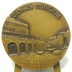 SILVES CITY HALL ART BRONZE MEDAL BY MAX BARROSO