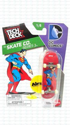 Tech Deck DC Comics TD Skate Co Superman Almost Skateboarding 1/8