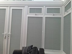 Perfect fit blinds for the French doors & glass gable end Fitted Blinds, Curtains With Blinds, Blinds For Windows, Patio Door Blinds, Patio Doors, Perfect Fit Blinds, French Doors, Glass Door, New Homes